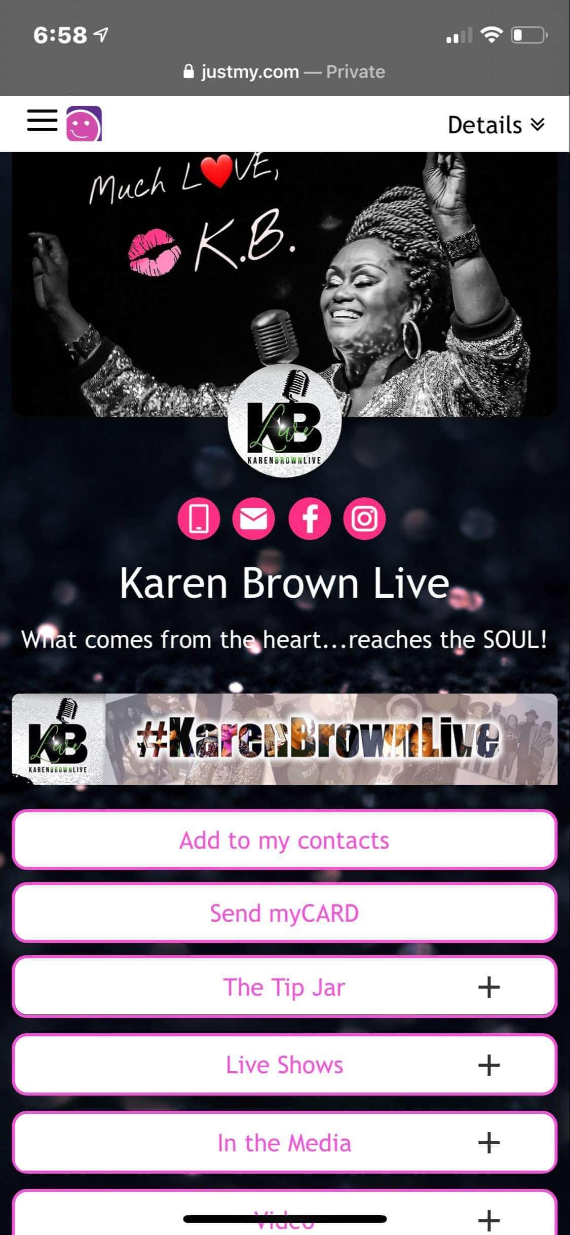 #grabmyCARD  Karen Brown Live