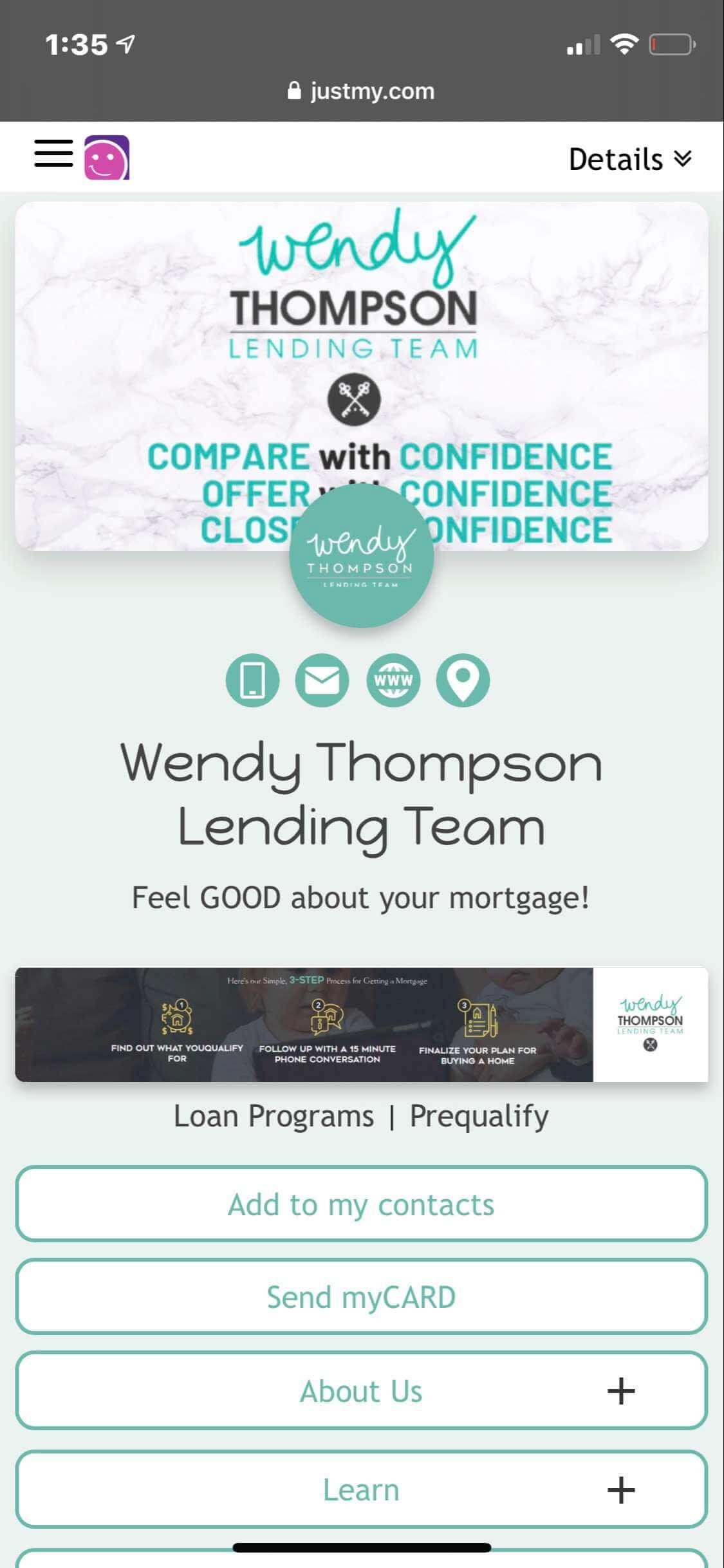 myCARD  |  Wendy Thompson Lending Team