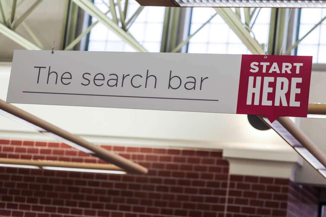 Literally a search bar.